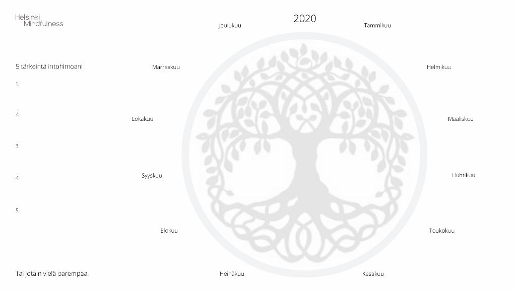 Elinvoimainen vuotesi 2020