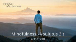 Helsinki Mindfulness, Mindfulness-koulutus 3 t